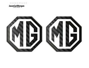 MG TF 2002-06 New Badge Inserts Front /& Rear Set 70mm Badges Red Carbon Silver
