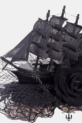 Gothic Lolita victorian Marie Antoinette Hut Haube Kopfbedeckung Schiff barock