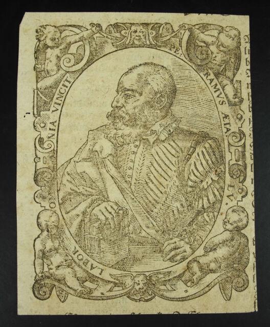 Antique Print Lapor Omnia Vincit Ramus Aeta LV King Or Character Famous Xviie