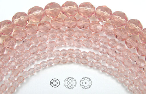 600 Preciosa Czech Glass Fire Polished Beads 3mm Rosaline color pink light rose