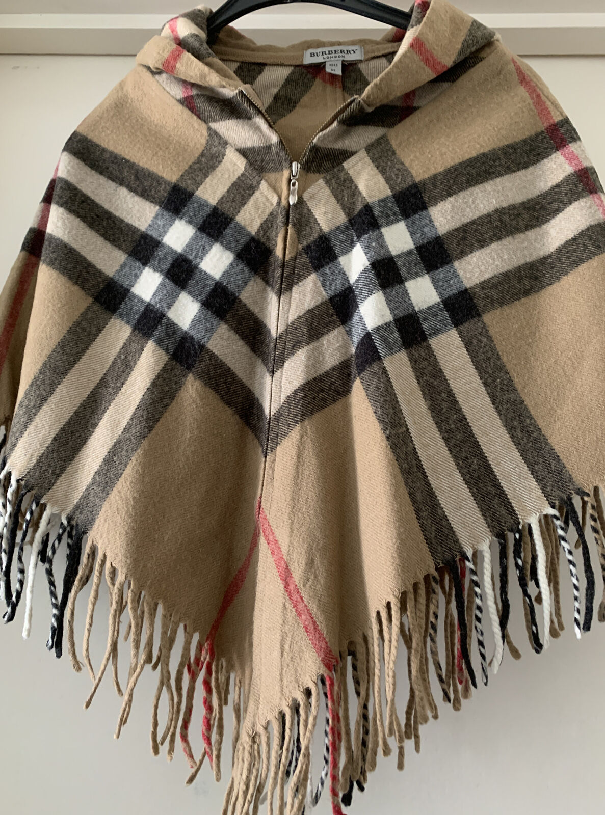 BURBERRY CAPE PONCHO HOODED HOUSE CHECK GIRLS SIZE 6-8 UK 8YEARS OLD SMALL CHILD