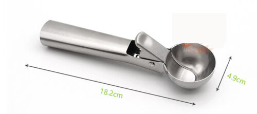 kitchen gadgets tools Stainless steel trigger yoghourt ice cream ball scoops