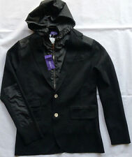 Ralph Lauren Purple Label Wool Blend Hooded Blazer Outerwear BLACK Gr XL