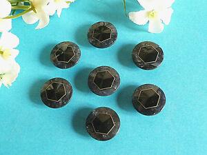 """1167/ Splendides Boutons """" Hexagone """" Bleu Et DorÉ Lot De 7 Boutons Ép. 1970 E2ztjn6z-07220905-407410995"""
