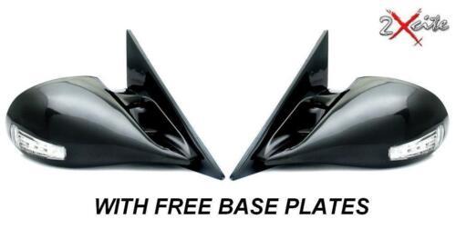 BMW 3 Série E30 Noir Électrique M3 porte des Rétroviseurs DEL Indicateurs De Base Plaques