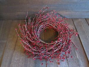 Extra Long 20 Foot Burgundy Pip Berry Garland Primitive Country Holiday Decor