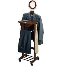 Wardrobe Valet Stand Organizer Walk In Closet Men Suit Neck Tie Office Attire