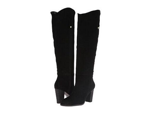 Brand New NIB $199 Guess Women's Honon Suede Tall Boots - Black Sz 8M