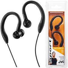 JVC Haec10b Sports in Ear Headphones With Over Ear Clip Black
