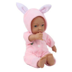 Mini-11-039-039-Full-Vinyl-Silicone-Reborn-Baby-Doll-Lifelike-Dolls-Looking-Gift-pink