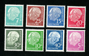 Germany-Stamps-Rare-Heusse-Fluorescent-Paper-NH