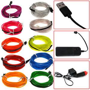 12V-Battery-USB-5V-LED-Glow-EL-Wire-Car-Neon-Tape-Light-Lamp-Sign-Atmosphere