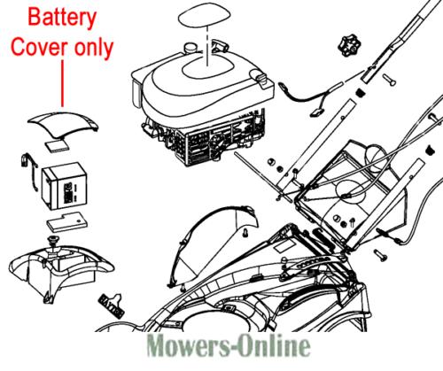 Hayter Ranger Harrier 41 Electric Start Battery Cover 410081 410 411 412 413 414