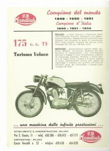 1949-52-Mondial-175cc-OHC-REPRO-advertisement-poster
