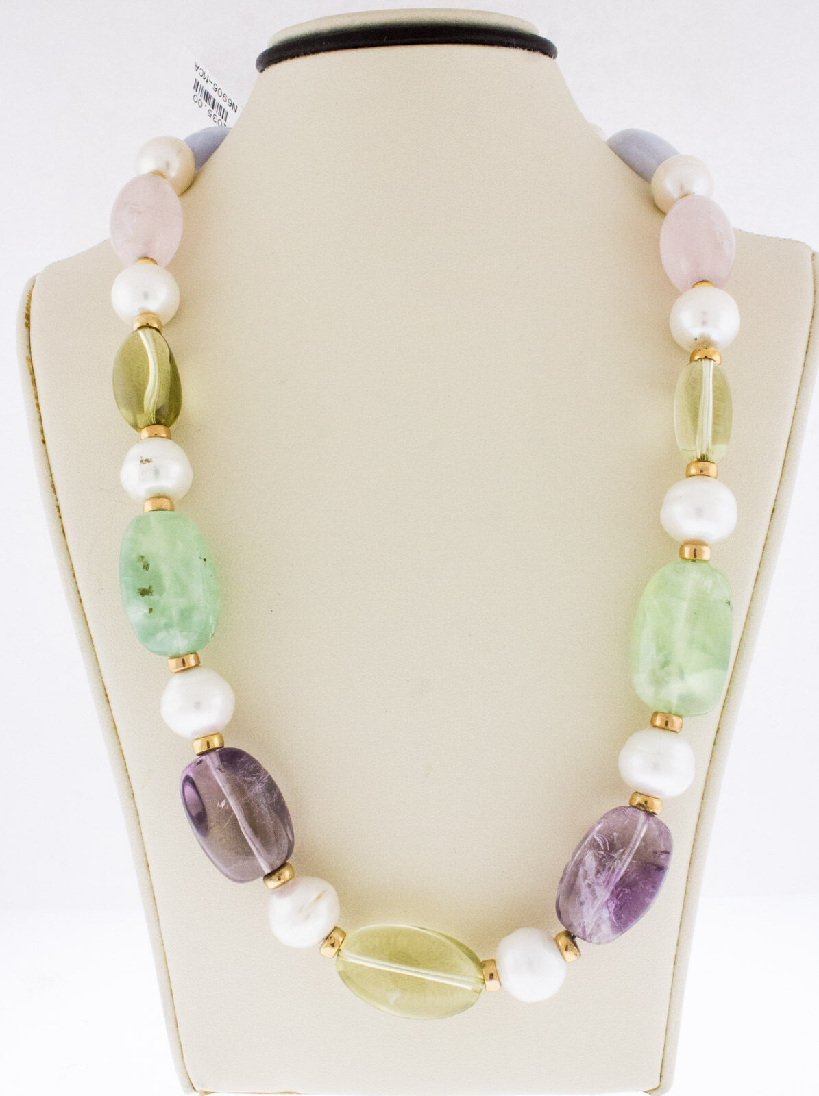 South Sea Pearl and Rose Quartz Necklace