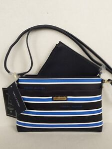 1e255f211e8 TOMMY HILFIGER TWICE AS NICE BLUE WHITE BLACK STRIPE CROSSBODY PLUS ...
