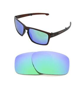7335826ba16 Image is loading NEW-POLARIZED-GREEN-REPLACEMENT-LENS-FOR-OAKLEY-SLIVER-