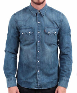 Levi-039-s-Men-039-s-Classic-Long-Sleeve-Denim-Button-Up-Casual-Dress-Shirt-81005