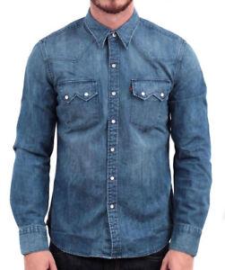 Levi-039-s-Herren-Classic-Langarm-Denim-Knopfleiste-laessig-Kleid-Shirt-81005