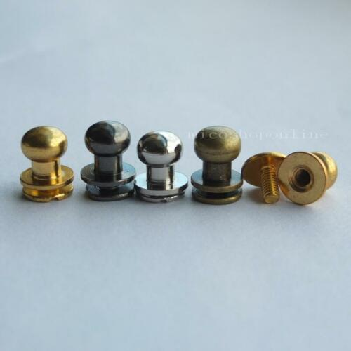 5 10 sets Choice Head Button Stud Screwback 4 Leather Bag Screw Chicago nail 8mm