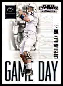 2016-PANINI-CONTENDERS-GAME-DAY-CHRISTIAN-HACKENBERG-RC-PENN-STATE-NITTANY-LIONS
