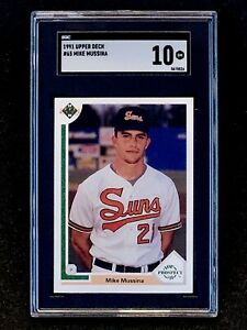 1991-Upper-Deck-Mike-Mussina-Rookie-SGC-9-5-MINT