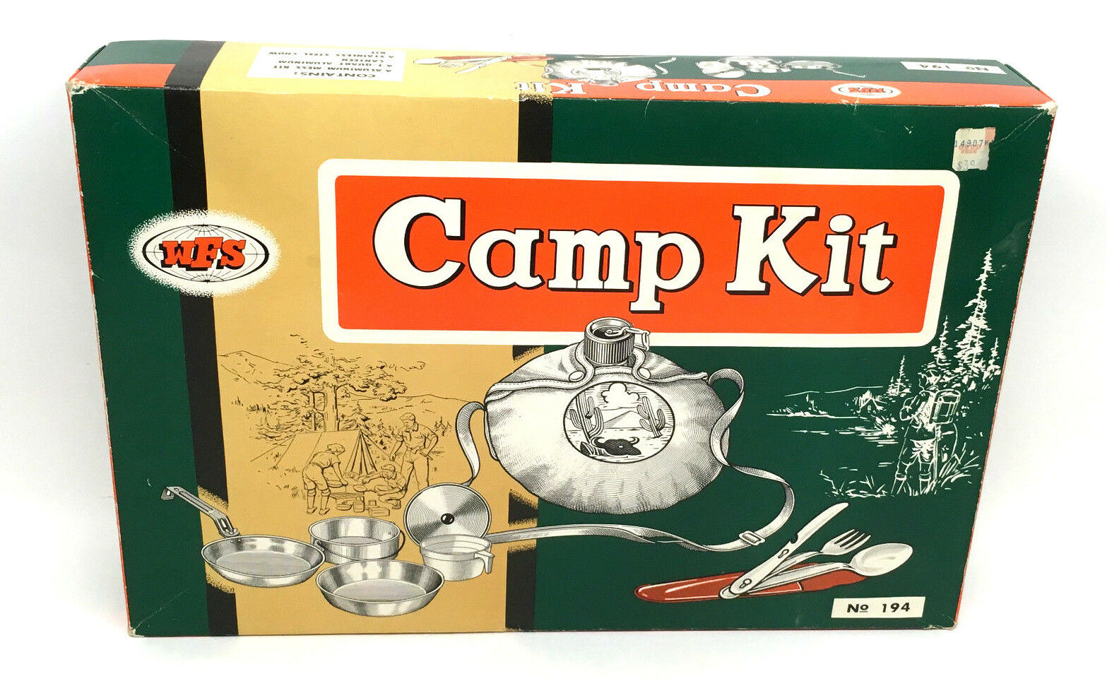 Vintage Camp Kit Cook  Set WFS Aluminum Camp CookwareJapan-Original Box No.194  order now with big discount & free delivery
