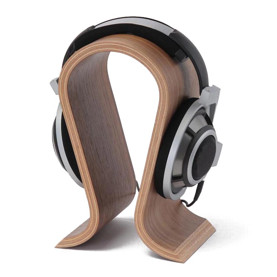 Wooden Headphone Stand Headphone Holder Headset Hanger for Home Office Studio