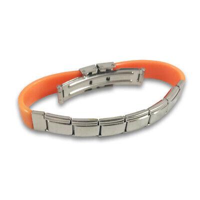 Whatever on black enamel 9mm stainless steel italian charm bracelet link new