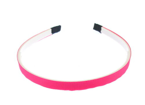 Hot Pink Neon Slim alice band headband for girls or ladies