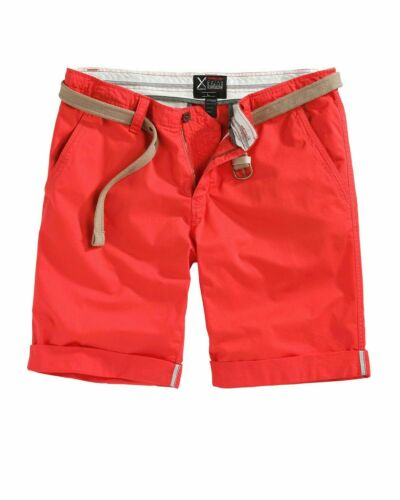 SURPLUS RAW VINTAGE Hommes Chino Shorts bermudes Tissu Pantalon M Ceinture Pantalon Court