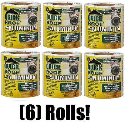 """Quick Roof QR625 Pro Aluminum Instant Waterproof Repair 6/"""" x 25/'"""