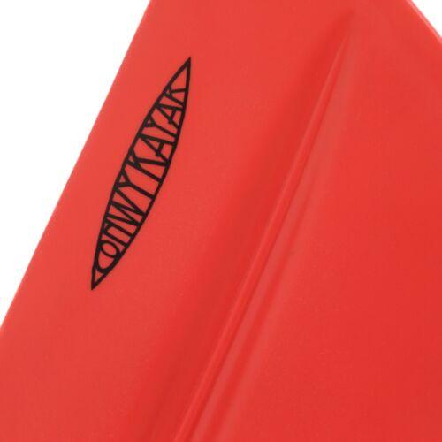 Kayak Canoe Red Black Yellow 2 Piece Asymmetrical Floating Aluminium Paddle