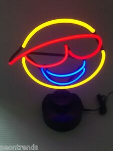 smiley neonleuchte neon sign leuchtreklame neonreklame light neonschild news. Black Bedroom Furniture Sets. Home Design Ideas