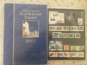 Collection-of-2004-Australian-Post-YearBook-Album-with-MUM-Stamps-Deluxe