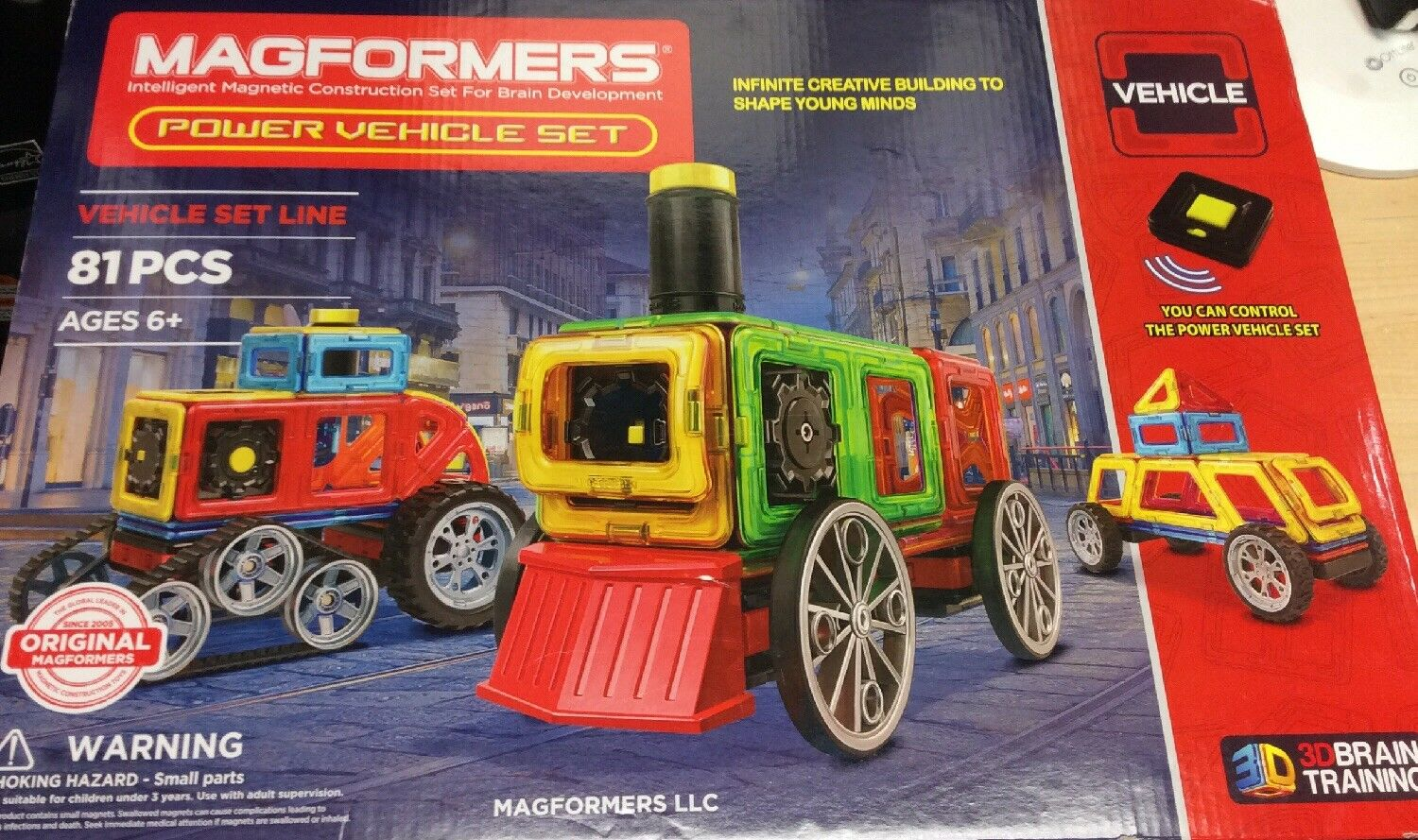 Megaformers Power Vehicle Set-81pc Magnetic Construction Set (07011)