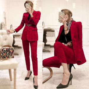 Kode Hosen Schlank Anzug Rot 4755 Lange Ärmel Komplett Frau Anorak Und xhBsrQdCto