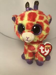 """DARCI the Giraffe Justice Exclusive Ty 6 /"""" Beanie Boos  NEW with MINT TAGS"""