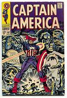 Captain America 107 Marvel 1968 FN Stan Lee Jack Kirby Hitler Red Skull Bucky