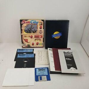 """VTG Maxis Sim City (1989) IBM PC DOS Floppy 5.25"""" & 3.5"""" Big Box Game Complete"""