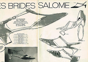 PUBLICITE PUBLICIDAD 034 1965 SEDUCTA zapatos LOS BRIDES SALOME ( 2 pa