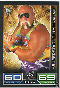 WWE SLAM ATTAX-BILLY GRAHAM Hall of Fame trading card