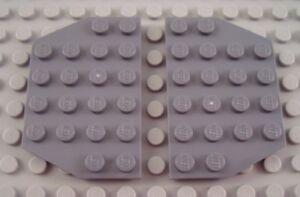 New LEGO Lot of 2 Dark Bluish Gray 4x6 Cut Corner Flat Building Plate Pieces