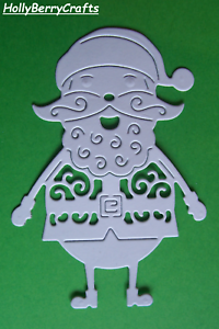 "temporada Die Cut Toppers ~ /""Jolly Santa/"" Tattered Lace Navidad"