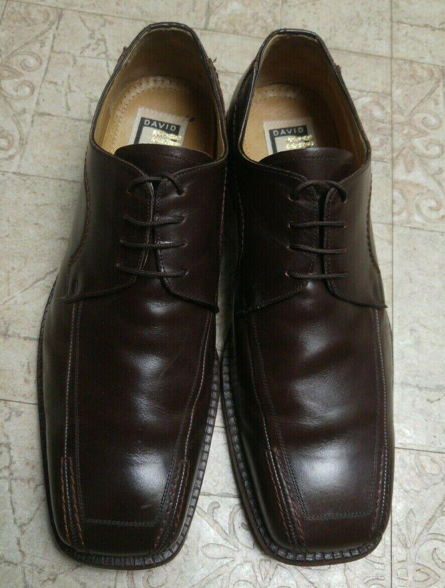 David Eden Men's Leather shoes Brown Sz 11