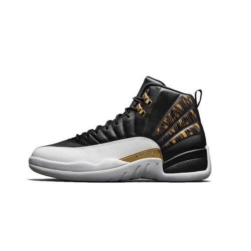 Jordan 12 Retro 'Wings' Wht Blk gold - Size 13 - 5,505 12,000 - 848692 033 - NIB