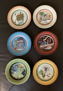 Tommy-Bahama-Cocktail-Plates-Dessert-Tapas-NIB-Set-of-6-Reasons-To-Party