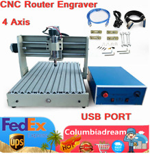 New Listingdesktop 4axis 3040 Cnc Router Engraver Wood Drill Mill Carve Machine 3d Usb Port