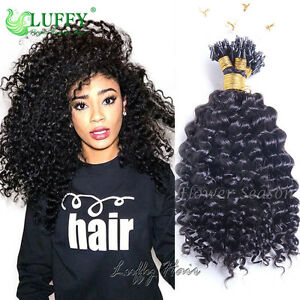 micro loop ring beads hair extensions curly brazilian