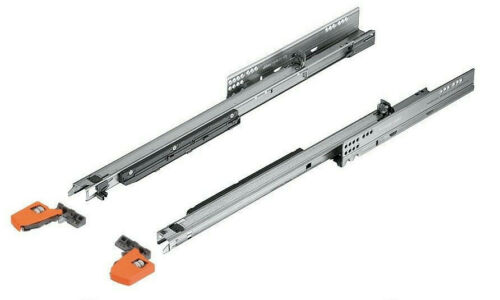 with clips Blum Movento 550 full extension soft close drawer runners L//R pair